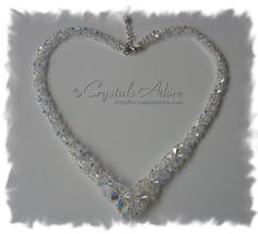 Items similar to Handmade with Swarovski® Crystals Beads Swarovski Crystals AB Bridal Evening Special Occasions Prom V Necklace on Etsy Prom Necklaces, Swarovski Crystal Beads, Heart Ring, Special Occasion, Jewels, Bridal, Diamond, Rings, Silver