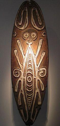 michael hamson   Michael Hamson) An expressive PNG Papuan Gulf Era River Gope board ...