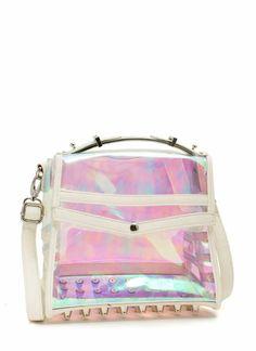 Studded Holographic Mini Bag