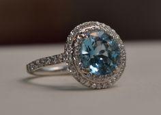 Tiffany Soleste Ring with Aquamarine