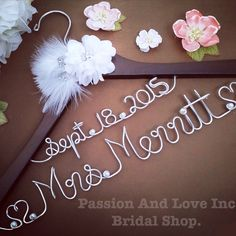 To my beautiful Bride to Bes......  Passion And Love Inc. has been making personalize bridal hangers since 2011 and have sold to over 25+ countries, over 21,000 orders and have a over 2500 feedback with 5 Star Review. We pride ourselves for our high quality handmade hangers super fast delivery and exceptional customer service. We are located in the sunny state of California thus by purchasing from our shop you are also supporting our US Small Business. Your wedding day is one of the most…
