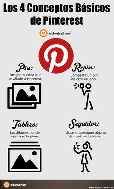 Aprende los 4 Conceptos Básicos de Pinterest para comenzar con buen pie en la red social de las imágenes y los videos.