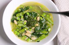 Spring green minestrone with pesto
