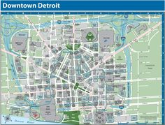Detroit Downtown, Detroit Map, Detroit History, Usa Cities, Travel Usa, Google Images, Over The Years, Michigan, Places To Go
