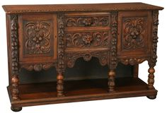 C. 1880 French Renaissance Carved Oak Sideboard on Chairish.com