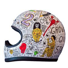 DMD helmet custom painted by Filippo Fiumani