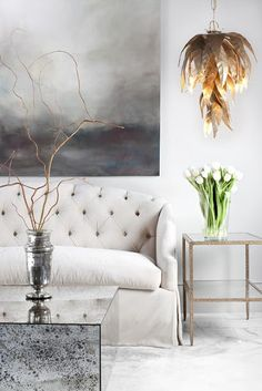 Loving this feathery light shade!   hello lovely inc.: hometown hero {Bradley Hughes}