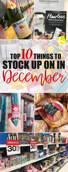 Top 10 Things To Stock Up On in December