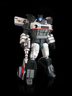 master class autobot jazz. a custom job by frenzy_rumble. light up visor