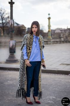 Paris Fashion Week FW 2014 Street Style: Natasha Goldenberg