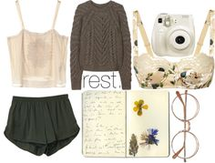 """""""R e s t ."""" by hippierose on Polyvore"""