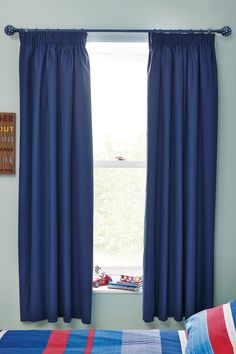 Buy Cotton Black Out Pencil Pleat Curtains from the Next UK online shop