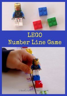 LEGO Math Activities for Kids: The Number Line Game. Playful math for preschool, kindergarten, 1st grade and on.