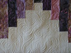 Creative Quilting by Debbie Stanton swirl doddle in negative space