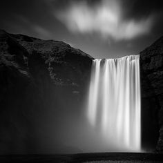 Love the photo manipulation of this waterfall