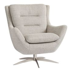 Shop Boucle Twill Gravel Lennon Lounge Chair and Teen Bedroom Furniture, Lounge Furniture, Furniture Ideas, Bedroom Decor, Furniture Makeover, Bedroom Ideas, Teen Lounge, Modern Lounge, Contemporary Lounge