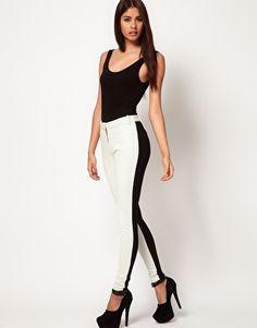 Love these: Aqua Vic Ponte Panelled Leggings