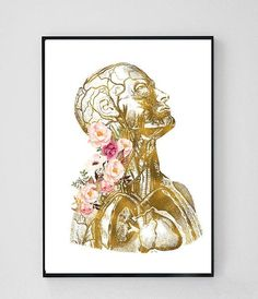 Anatomical Art, Human Anatomy Poster, Gift For Doctor, Medical Office Decor, Med… Massage Room Decor, Massage Therapy Rooms, Medical Office Decor, Human Anatomy Art, Massage Business, Medical Art, Les Oeuvres, Clinic, Art Prints