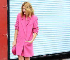 long pink blazer via LC We still have cool mornings in Corpus. Cute.