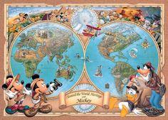 【引上品】◆希少品◆300ピースジグソーパズル:グレートマップ(世界遺産)《廃番商品》 - 組絵門(くみえもん)