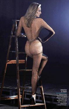 Diane Kruger gorgeous backside and sexy legs in a sheer bodysuit and high heels