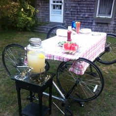 Summer cookout with the bikes