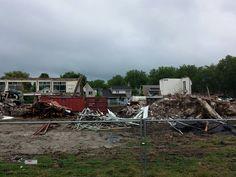 Achterkant bijna verdwenen Neerhofschool 5 Neerhofstraat 3 Zevenbergen (13-7-2015)