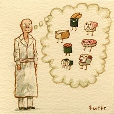 Jiro Dreams of Sushi by Scott Campbell