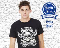 GROOM Pirate Skull Groom Walking the Plank by RaveledSteelAisle #handmade #tbec #florida #clothing #wedding #accessories