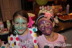 Sleepover spa birthday party by My Sweet Craft Cakes