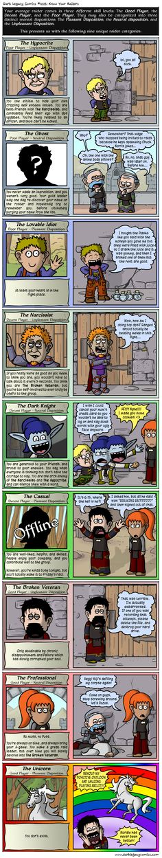 Which one are you?! Dark Legacy Comics #408: Know your raiders