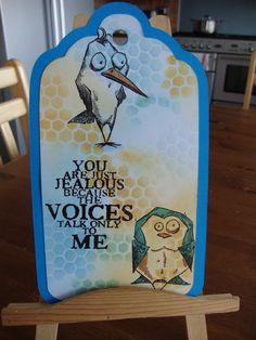 Tag for a friend Bird Crazy by Tim Holtz