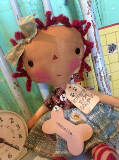 Raggedy Ann doll Raggedy Annie Ragdoll by oldragdollcupboard