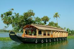 "What I want to do when I visit: ""camp a few days in a river boat"" India - Kerala"