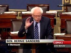 Sen. Bernie Sanders (I-VT) delivers a tribute to the late Sen. Paul Wellstone (D-MN).