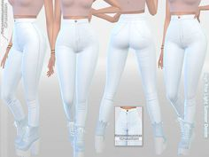 High Rise Light Summer Denim by Pinkzombiecupcakes at TSR • Sims 4 Updates