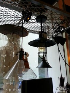 Industrial chic lamps ($180?)