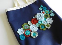 Decorate a bag to cover the logo