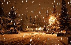 animated christmas and winter snow I Love Snow, I Love Winter, Winter Snow, Winter Night, Merry Little Christmas, Winter Christmas, Christmas Lights, Christmas Time, Christmas Houses