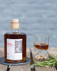 DO THE DONT'S ENTRY Drink; Herbal liqueur, handmade using 23 herbs and spices, vodka based, produced by The LQR Company Berlin; Category; Alcohol, Drinks, Bottle, Design #dothedonts #collectivelabel #entryedition
