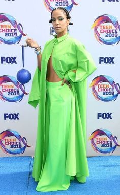 Megalyn Echikunwoke at the Teen Choice Awards 2019 Michelle Richard, Sky Brown, Candace Cameron Bure, Sarah Hyland, Teen Choice Awards, Prabal Gurung, Red Carpet Fashion, Green Dress, How To Memorize Things