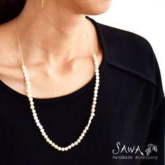 【SAWA サワ】 3種 パール ネックレス (n56) ファッション レディース  アクセ