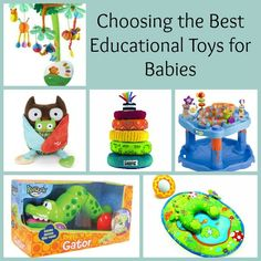 Choosing the Best Educational Toys for Babies  Organic kids Products  http://organicproducts.gr8.com