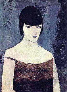 Man Ray ~ Portrait of Kiki de Montparnasse, 1923 Man Ray, Illustrations, Illustration Art, Kiki De Montparnasse, Gottfried Helnwein, Francis Picabia, Giovanni Boldini, Alexander Calder, Guache