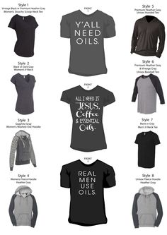 Such cute essential oil shirts. Mine is so soft and comfortable. Www.wearitwelldesigns.com