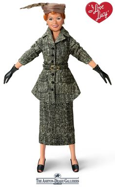 Officially licensed. Poseable I LOVE LUCY® doll celebrates the classic fashion show episode with costume, sound bites and show's theme song.