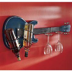 Guitar Wine Bottle Rack http://www.YourWineCellar.org♥♫♥♫♥♥♫♫♥J