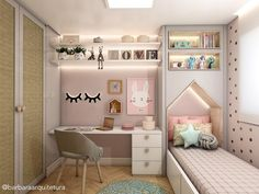 Quartinho de princesa! #quartodemenina #quartocorderosa #kidsdecor #kidsroom