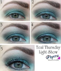 Teal Thursday Light Show Tutorial. Pin now, read later! @INGLOT Scotland Scotland Cosmetics USA #stila #inglot #teal #blue #makeup #tutorial