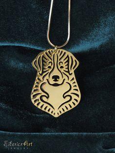 Bernese Mountain Dog jewelry gold dog by SiberianArtJewelry, $89.00